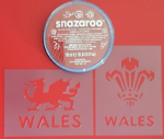 Welsh Three Feathers & Welsh face Dragon set  6 Nations Wales sport rugby reusable St. Davids Day